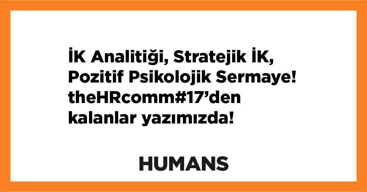 2019-2020 sezonun ilk the HR communicators'ının ardından...